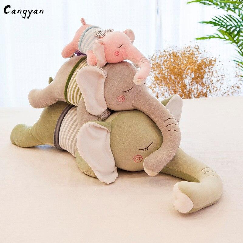 Brinquedos Bonito, pateta, long-nosed corpos macios deitar de bruços como bichos de pelúcia recheado com elefante bonecas para presentes festivas.
