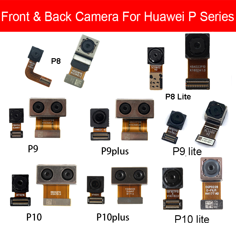 Front & Rear Camera Module For Huawei P8 P9 G9 P10 Lite Plus Main Back Big And Facing Small Camera Flex Cable Replacement Repair