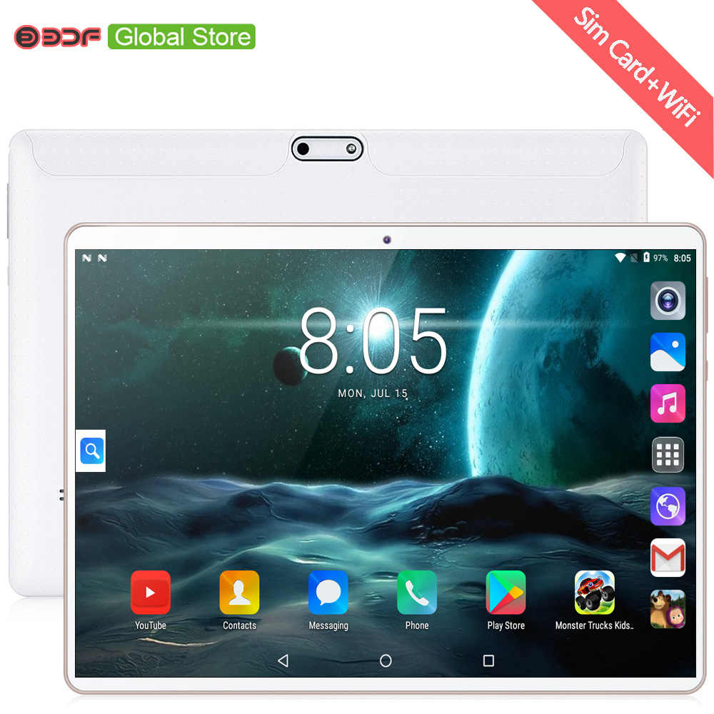 Gratis verzending Nieuwe 64GB Octa Core 10 inch Tablet Pc Android 7.0 Tabletten WiFi Bluetooth GPS 3G Telefoon call Dual SIM 10.1 inch tab