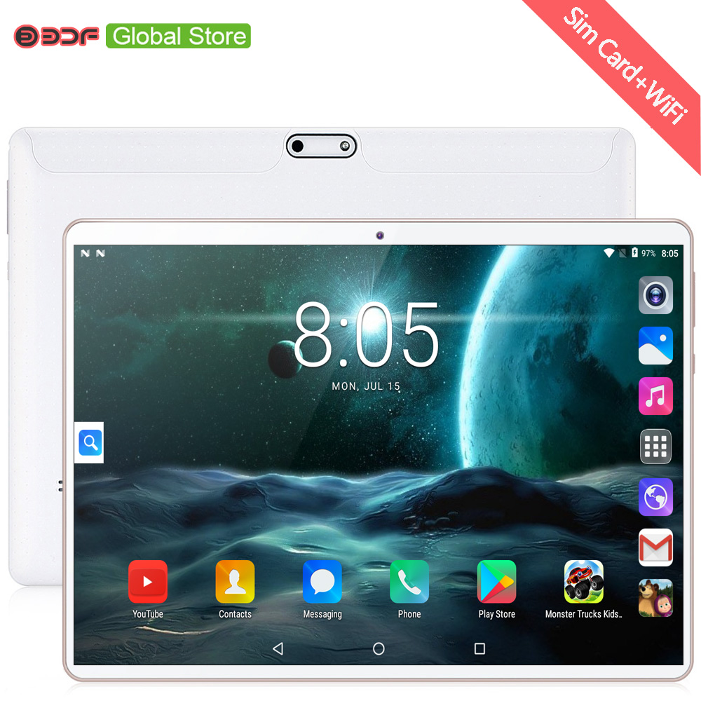 New Arrivals 10 Inch Tablet Pc Quad Core Android 7.0 Tablets WiFi Bluetooth GPS 3G Phone Call Dual SIM 1280x800 IPS Screen 10.1