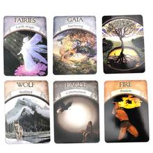 Earth Magic Oracle Cards English Board Game Read Fate tarot c48-card table games Deck Guidebook for Entertainment Board Game недорого