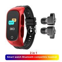 Reloj inteligente N8 TWS para hombre y mujer, deportivo, inalámbrico, con Bluetooth, compatible con auriculares, llamadas, Monitor de sueño, nuevo