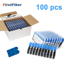 100 PCS Embedded SC UPC Fiber Optic Fast Connector FTTH single-mode fiber optic SC quick connector SC adapter Field Assembly(China)