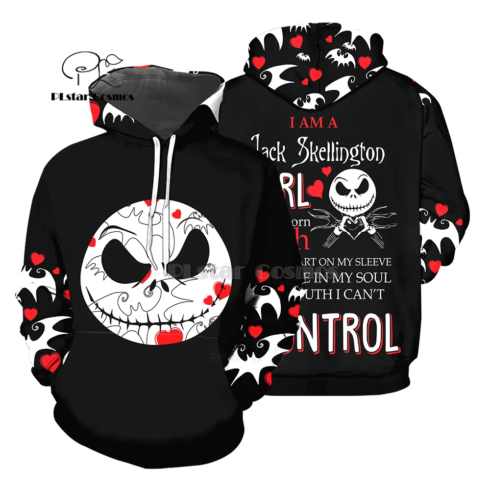 PLstar Cosmos Jack Skellington Jack Sally 3d Hoodies/Sweatshirt Winter Nightmare Before Christmas Halloween Streetwear-46