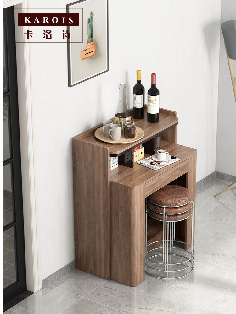 Karois Ht201938 Invisible Retractable Solid Wood Space Saving Sideboard Folding Dining Table Combination Multi Function Dining Tables Aliexpress