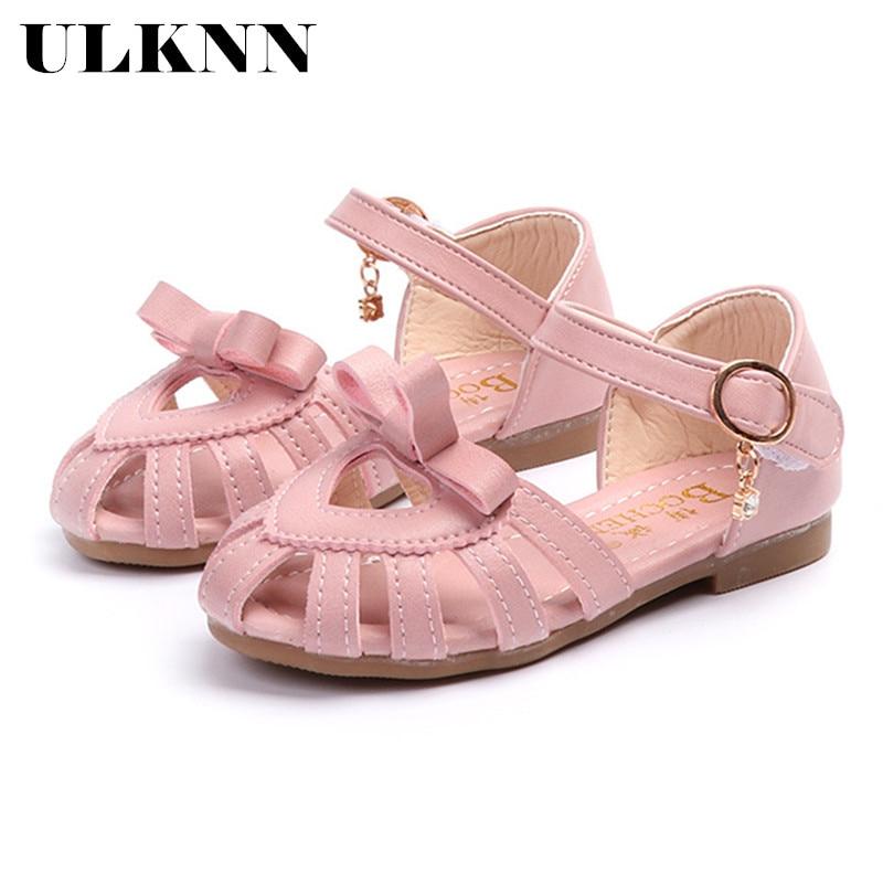 ULKNN Toddler Girl Sandals Shoes Solid Elegant Heart Design Sandals Shoes For Girls Kids Summer Beach Sandal Shoes Outdoor