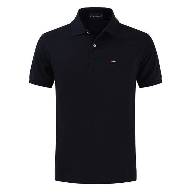 Top Quality 2020 New Solid Color Mens Polos Shirts 100% Cotton Short Sleeve Casual Polos Hommes Fashion Summer Lapel Male tops 3