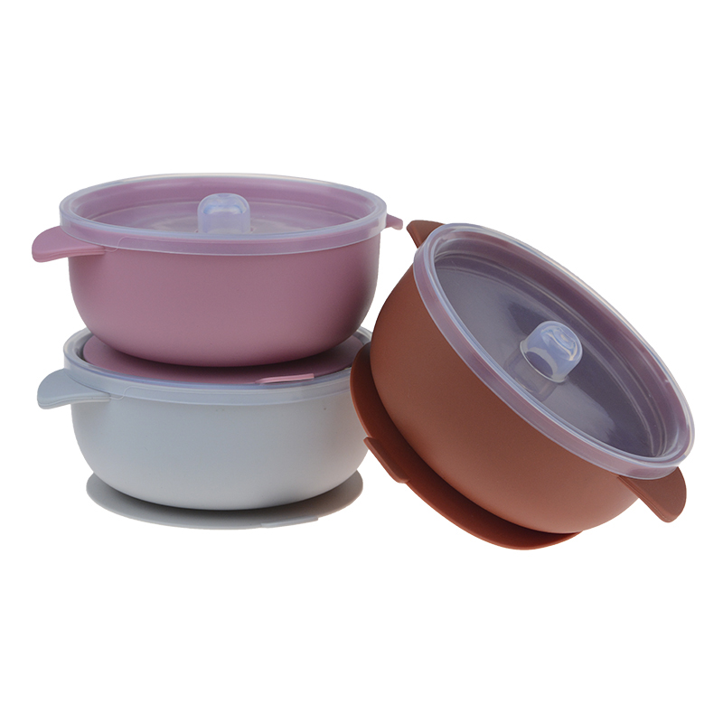 Baby Feeding Bowl Silicone Tableware For Kids Suction Bowl Baby Plate BPA Free High Quality Silicone Kids Toddler Assist