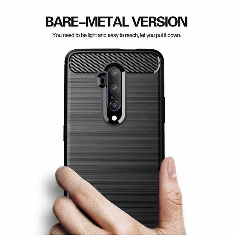 Karbon Fiber kılıf OnePlus 7 7T Pro 6 6T 5 5T 3 3T durumda bir artı 3 3T 5 5T 6 6T 7 7T Pro kapak yumuşak silikon telefon arka kılıfları