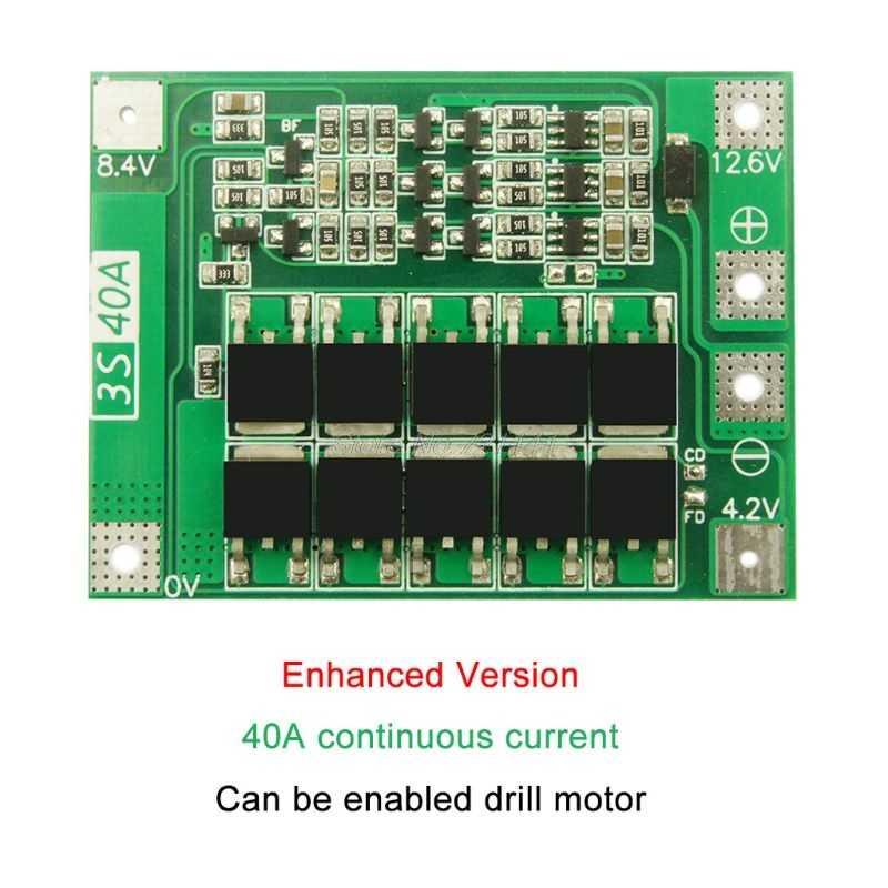 3S 40A リチウムイオンリチウム電池充電器リポ電池モジュール PCB BMS 保護基板ドリルモータ 12.6V でバランスドロップシップ