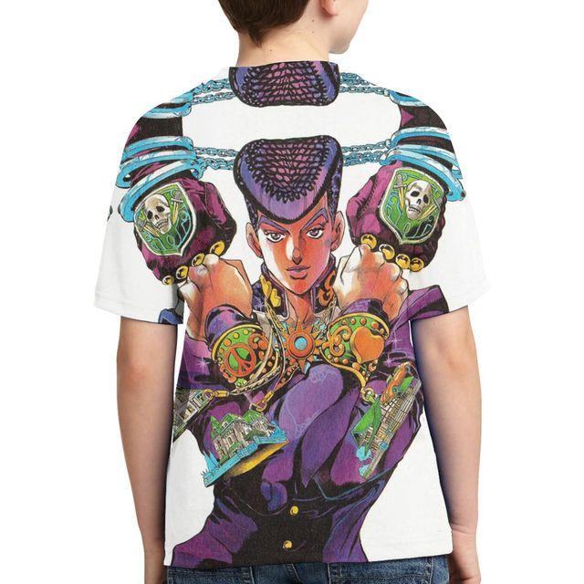 Teen 3D Printing JOJO Anime Cartoon T-shirt Jojo Bizarre Adventure T-shirt Kids T-shirt jojo figure Summer Interesting Top 1