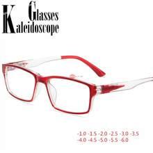 Finished miopia óculos de miopia mulheres dos homens óculos de visão curta estudante óculos de visão diopter-1.0 -1.5 -2.0 -3.0 para-6