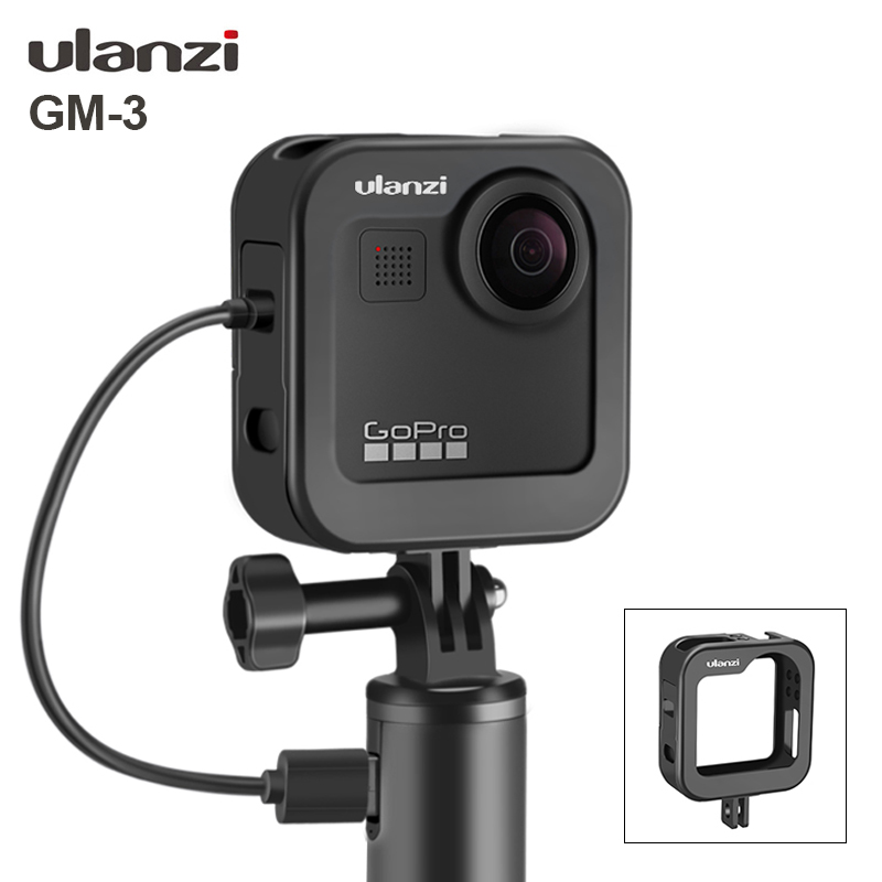 Ulanzi GM-3 Metal Gopro Max Cage Case Vlog Cold Shoe Design Case Portable Vlogging Cage