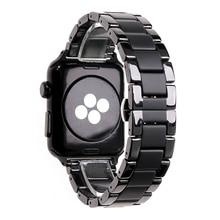 Ceramica sabbiato opaco Serie di Orologi di sport della cinghia per Apple 2 3 4 5 iwatch 42 millimetri 38 millimetri 40 millimetri 44 millimetri cinturini wristband del Braccialetto