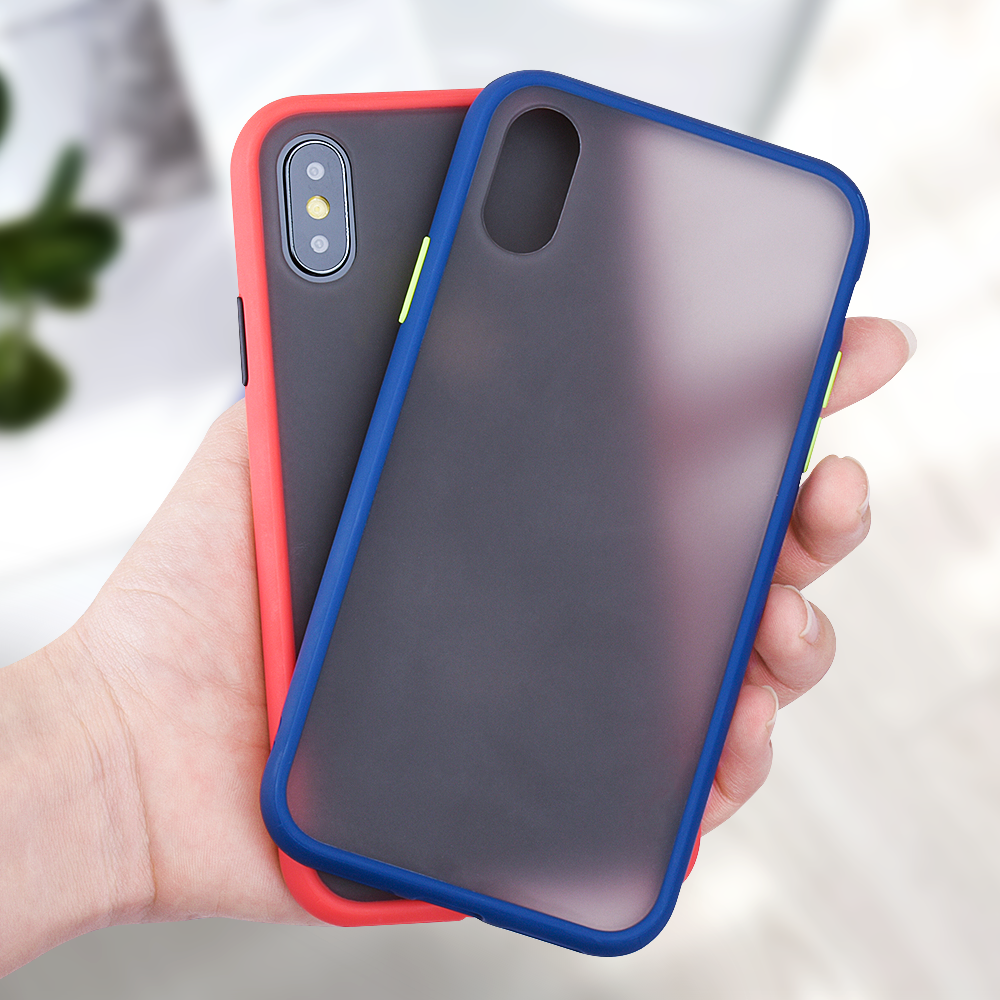 Matte Case voor iPhone 11 Pro 11 Pro Max Xr Xs Max X Shockproof Transparant Telefoon cover voor iPhone 7 8 6 6s Plus Coque