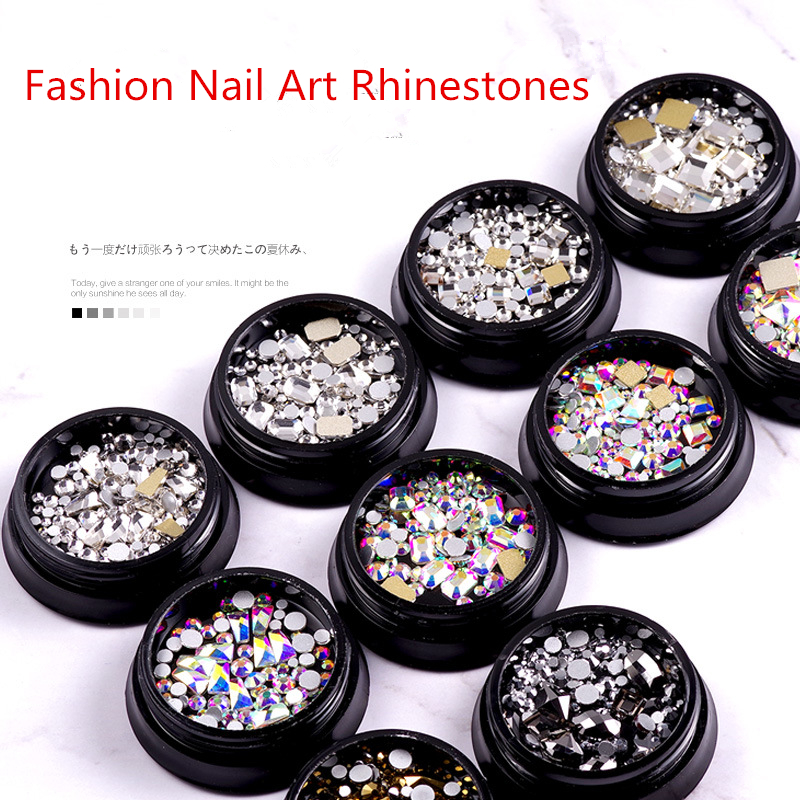 2019 New Arrival Nail Art Non Hot Fix Nail Rhinestones Crystal Swarovsky Glass Loose  Beads  Strass For Nails Decorations