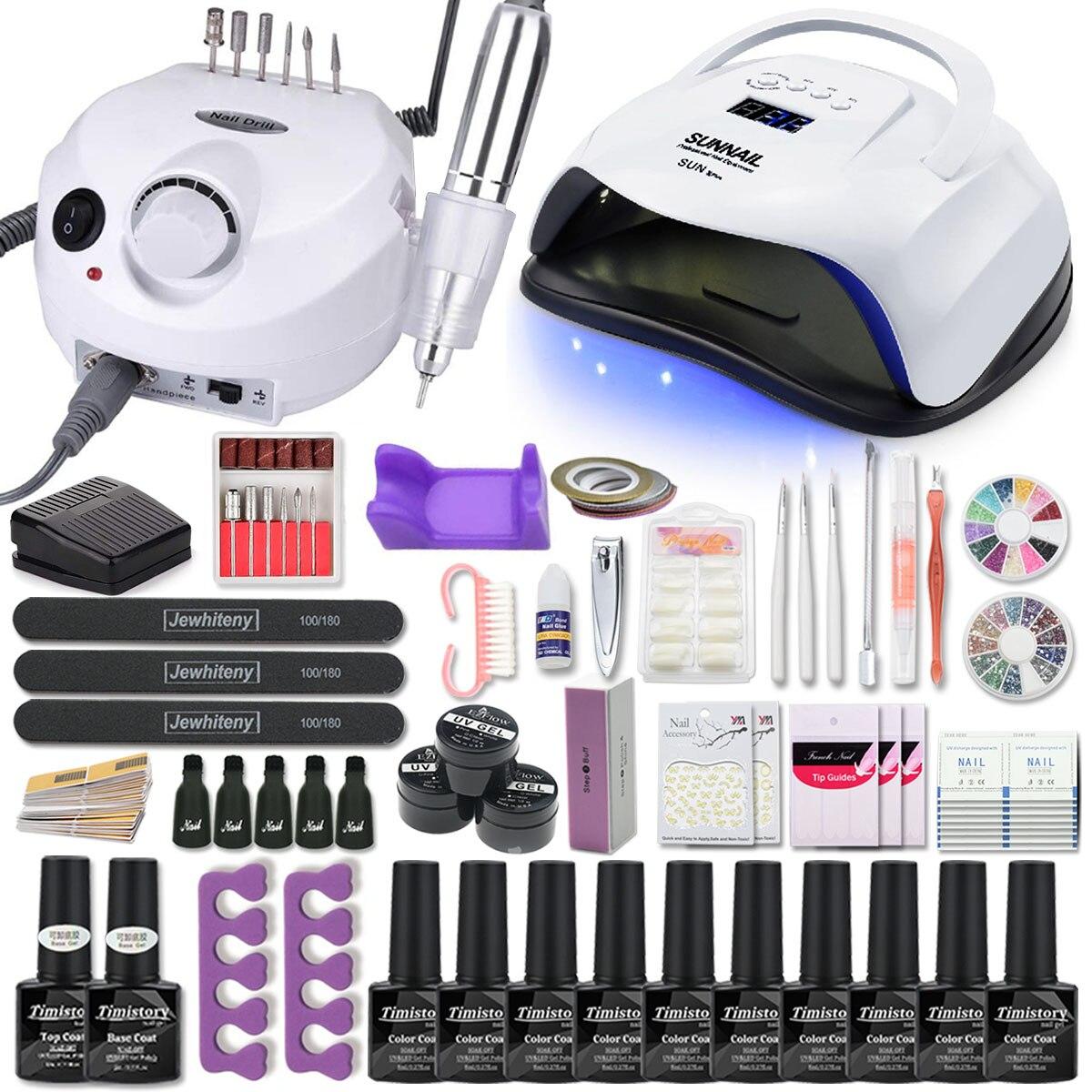 kit-de-manucure-acrylique-kit-d'ongle-avec-120-80-54w-lampe-a-ongles-35000-tr-min-perceuse-a-ongles-machine-choisir-gel-vernis-a-ongles-tout-pour-manucure