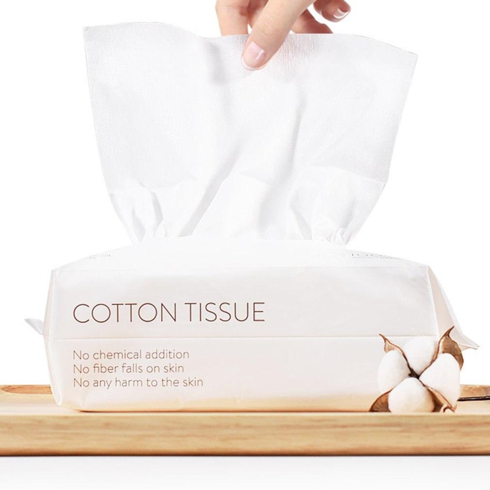 100 pcs/bag Disposable Face Towel Cleansing Paper Towel Soft Towel Cotton Pad Makeup Remover Beauty Salon Face Wipe