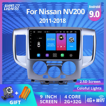 For Nissan NV200 2011 2015 2016 2017-2018 2din Android 9.0 Car Radio 2din Car Multimedia Player Auto Radio Head Unit Stereo DVD