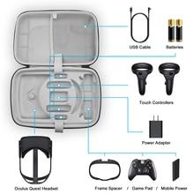 Estuche de transporte de viaje de gran capacidad para auriculares Oculus Quest VR, accesorios para controladores táctiles, bolsa de almacenamiento impermeable