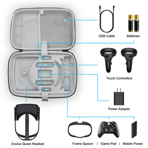 Image 1 - Large Capacity Travel Carrying Case for Oculus Quest VR Gaming Headset Touch Controllers Accessories Waterproof Storage Bag
