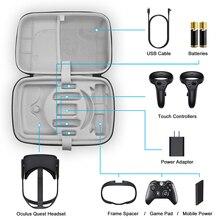 גדול קיבולת נסיעות תיק נשיאה עבור צוהר Quest VR משחקי אוזניות מגע בקרי אביזרי עמיד למים אחסון תיק
