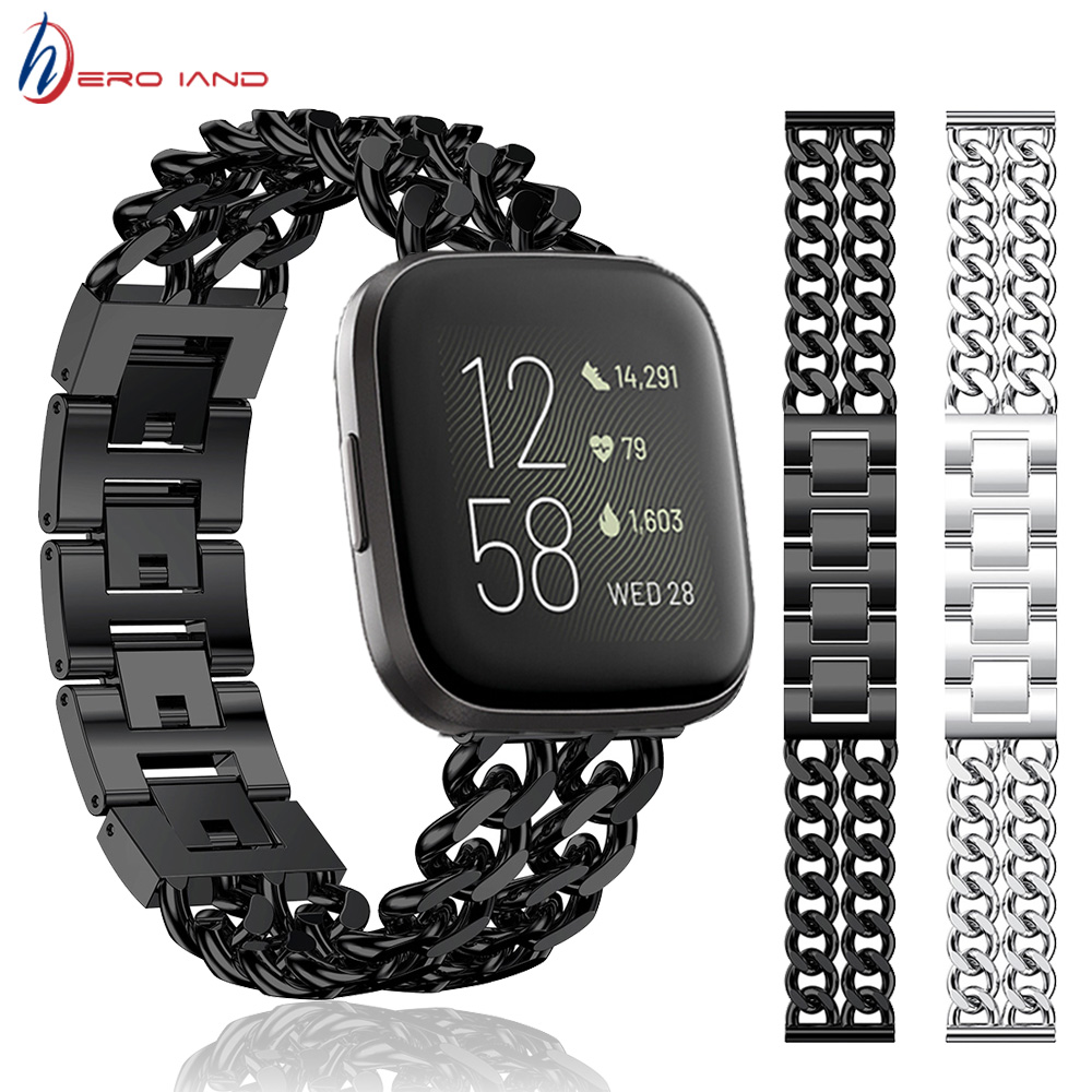 Alloy Strap For Fitbit Versa 2 Smart Bracelet Band Loop Adjustable Metal Wristband Strap For Fitbit Versa / Versa Lite Correa
