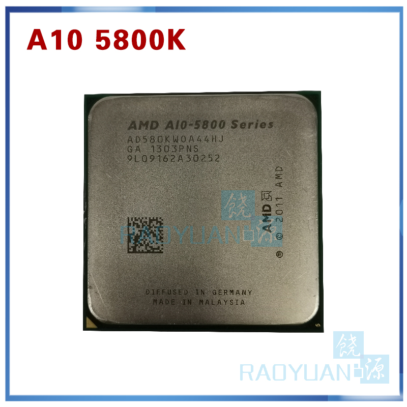 AMD A10-Series A10-5800 A10-5800K A10 5800 A10 5800K Quad-Core CPU Processor AD580KWOA44HJ Socket FM2