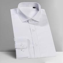 Męskie białe koszule Tuxedo biznes formalne dżentelmen wesele sukienka z długim rękawem rozciągliwe tkaniny koszula XS- 5XL 6XL 702 tanie tanio Włókno poliestrowe spandex COTTON Tuxedo koszule Pełna Plac collar Pojedyncze piersi REGULAR men shirt 2005 Suknem Stałe