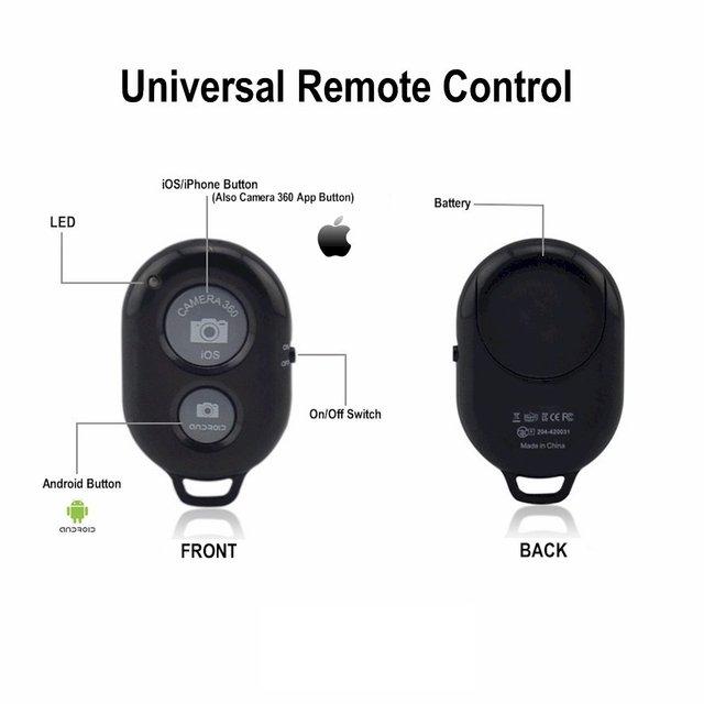 Remote Shutter Release for Phone Wireless Control for Monopod Photo Camera Shutter Button Bluetooth Remote for Smartphone 6