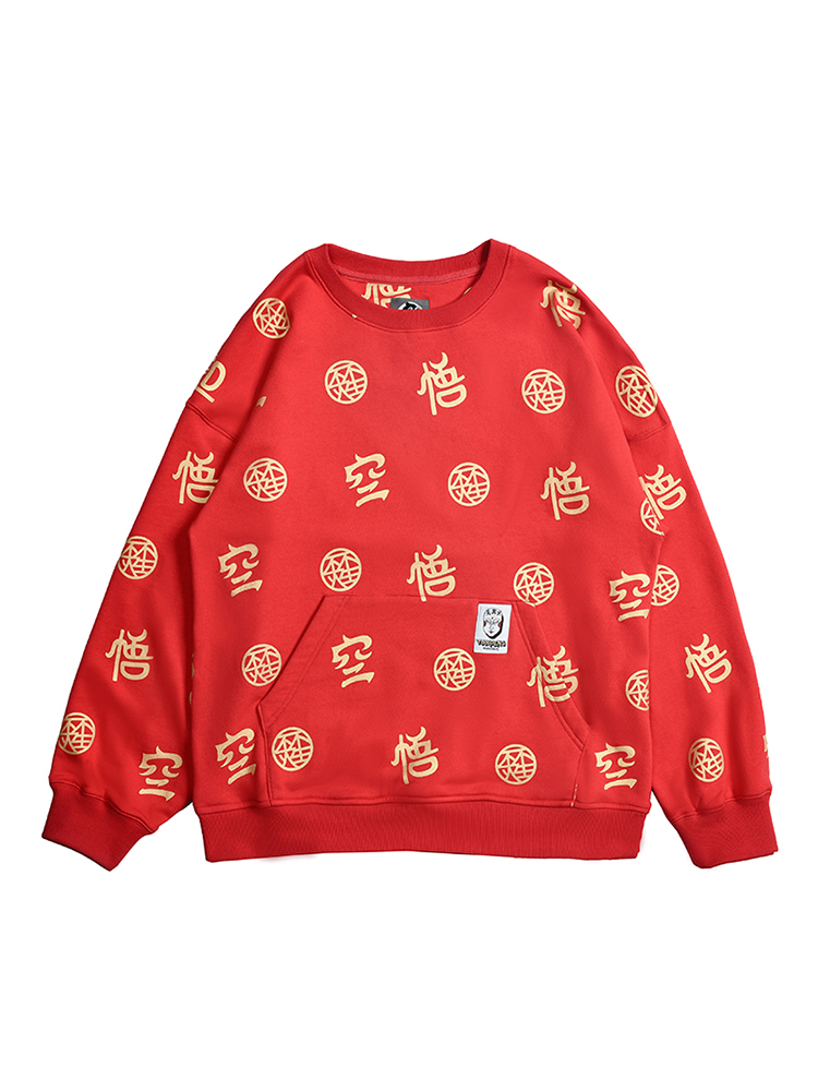 Fashion Brand New WOOKONG BRAND Letter Print Red Color Mens Sweatshirt Men Novelty Hoodies Pullover 2019 New Male Clothes
