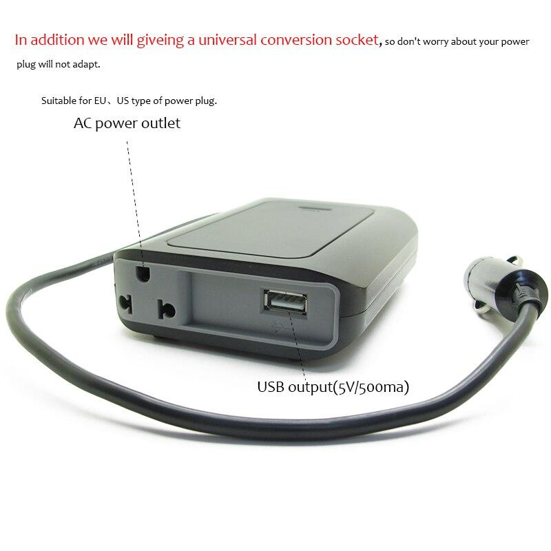 XGREEO Car adaptor car inverter DC 15V to 110V AC Car Inverter with DC5V/0.5A USB Car Adapter