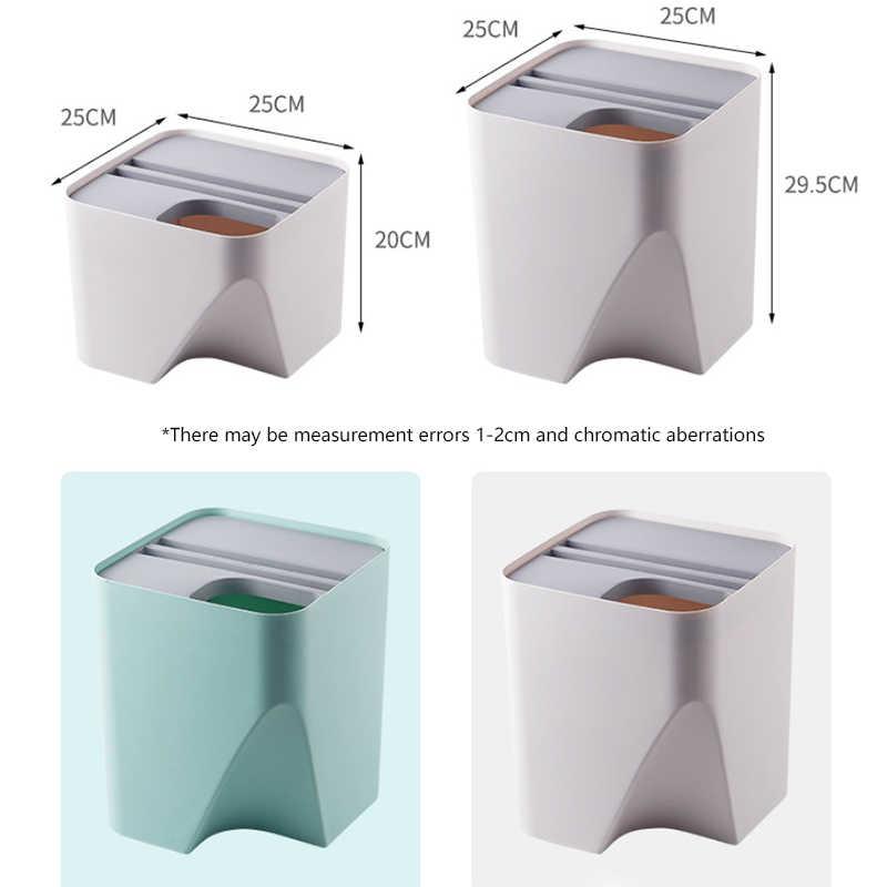 キッチンごみリサイクルすることができビン積み重ねソートごみビン家庭用ドライとウェット分離廃棄物ビンごみビン浴室