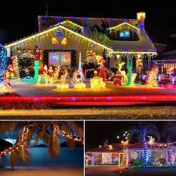 10M 100 LEDs กันน้ำแบตเตอรี่ฮาโลวีนตกแต่งคริสต์มาสสำหรับ Home Garland Tree งานแต่งงาน Decor Dropship #
