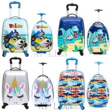 Trolley Luggage-Bag Suitcase Spinner-Wheels Travel-Carry Cartoon-Animal Kids Children