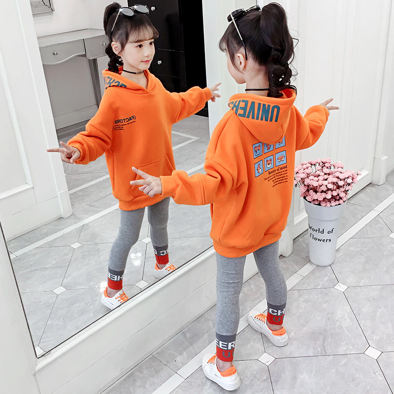 Children Clothes Autumn Spring Girls Sets Long Sleeve Tracksuit 2- 13 Years Hoodies Among Us Sport Suit Kids Clothes Sets