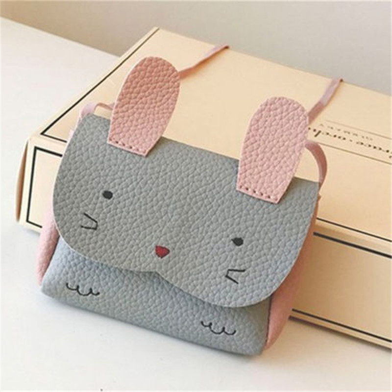 Baby Girls PU Leather Shoulder Bag Kids Cute Messenger Bag Children Cartoon Handbag Crossbody Satchel Bags Wallet Coin Purse