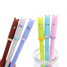 30pcs/lot Creative Animal Expression Pen Cap 0.5mm Gel Pen Using In School And Office Or For Gifts h96 max x2 voice smart tv box android 9 0 amlogic s905x2 lpddr4 quad core 4gb 32gb 64gb 2 4g