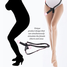 Double Dildo Double Ended Strapon Elastic Harness Strap On Dildo Women Sex Toy