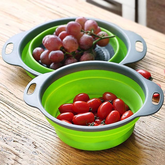 Folding Strainer Bowl Outdoor Camping Tableware 8