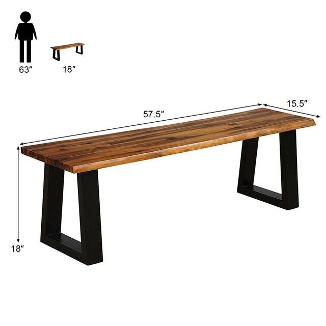 Premium Acacia Wood Patio Bench  4