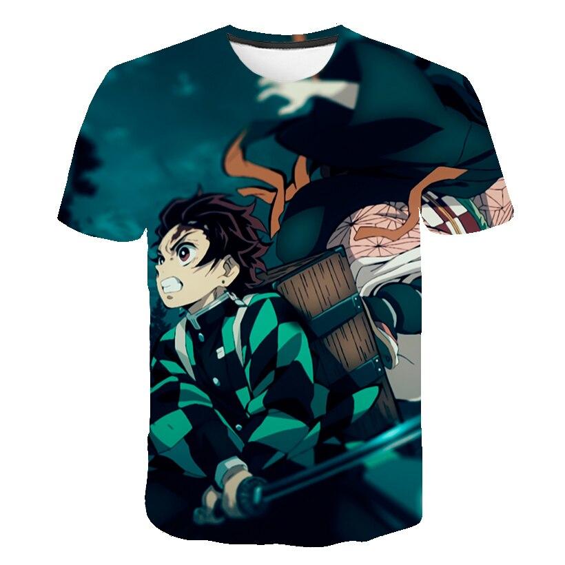 H78e6f2fc1b9e4d8986fa298a50e29aa1J Kids Boys Devils killer T-shirts 3d Print Cosplay Japanese Ghost blade Children Summer Short Sleeve Tshirts Demon Slayer Clothes