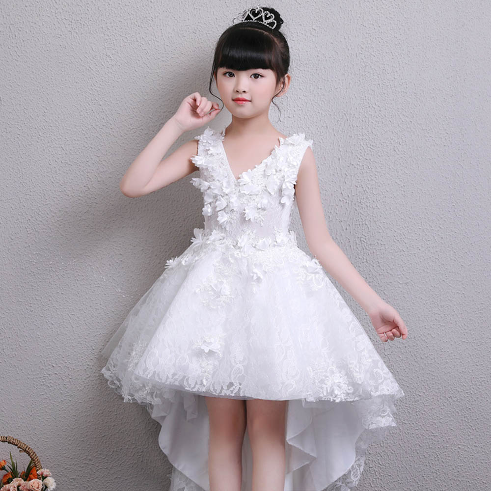 High Low First Communion Dress Pageant Gown Flower Girl Dresses for Weddings