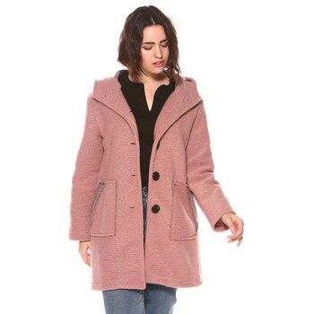 Abrigo con capucha para mujer, 033253