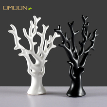 Nordic Ornaments for Home Decoration Ceramic Figurines Fortune Tree porcelain Crafts Living room wedding decor Accessories