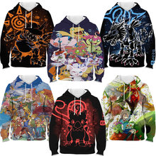 Kids 3d printed digital monster hoodie children boys girls anime