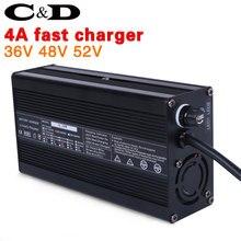 36 в 48 в 52 В литиевая батарея зарядное устройство 4A быстрое зарядное устройство 42 в 54,6 в 58,8 в литий-ионный аккумулятор зарядное устройство электрический велосипед Ebike DC XLR RCA