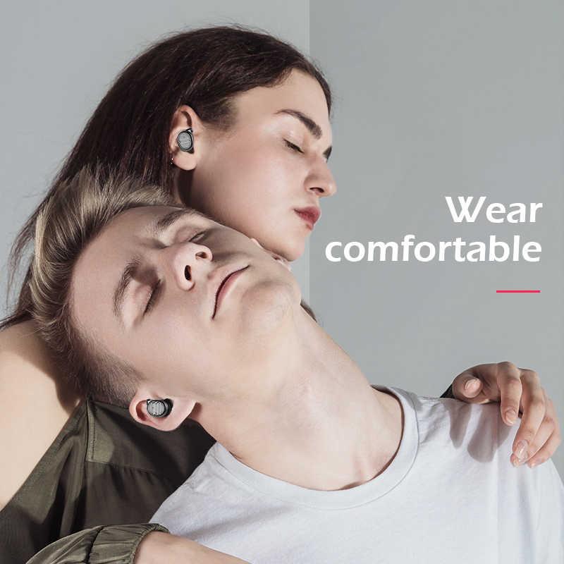2019 LIGE bezprzewodowe słuchawki TWS Bluetooth sportowe V5.0 zestaw słuchawkowy sterowanie dotykowe prawda douszne 6D Stereo głowy-darmowe IPX5 wodoodporna