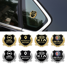 3D โลหะรถด้านข้างหน้าต่างร่างกายตกแต่งป้ายสติกเกอร์หูข้าวสาลีสำหรับ BMW M M3 M5 E46 E39 E92 e90 E60 E36 F30 X5 F10 F20 E30 E61