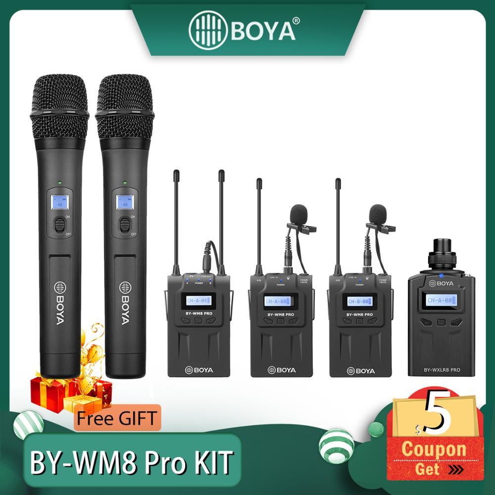 BOYA BY-WM8 Pro K1/K2 Mic Condenser Wireless Mic Microphone System Audio Video Recorder Receiver For Canon Nikon Sony Camera